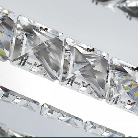 Plafon kryształowy przysufitowy okrągły PREZZIA ROUND 24W 40 cm kryształy 3000K led