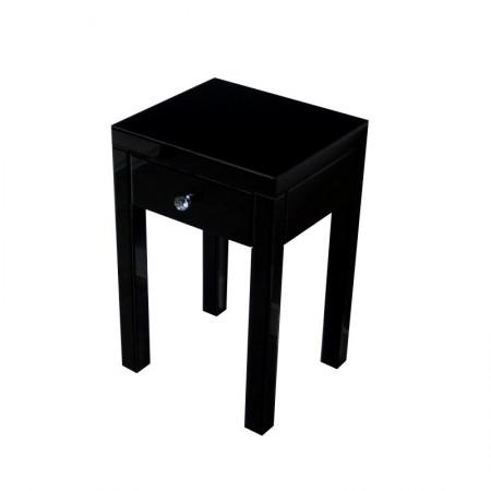Lustrzany stolik nocny czarny VERA szer. 40 cm lustrzana szafka nocna