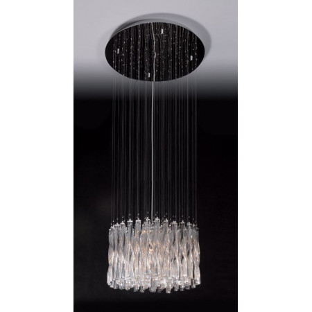Lampa wisząca kryształowa 150 cm Bilbao nad schody glamour hol chrom