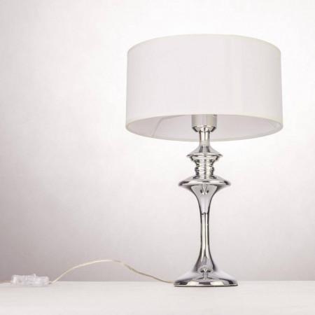 Lampka nocna biurkowa stołowa ABU DHABI biała