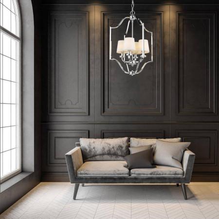 Żyrandol lampa sufitowa wisząca NEW YORK metal klosze Hampton New York