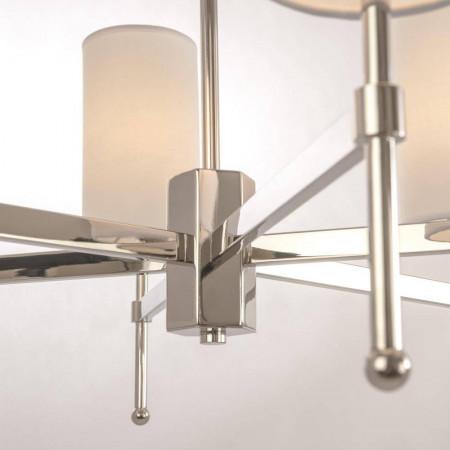 Żyrandol lampa sufitowa wisząca DENVER srebrna biała
