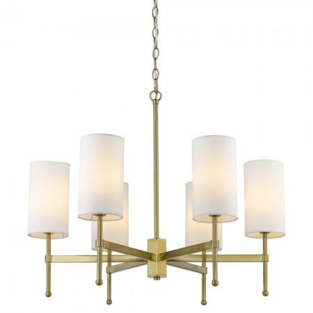 Żyrandol lampa sufitowa wisząca DENVER złota biała mosiądz