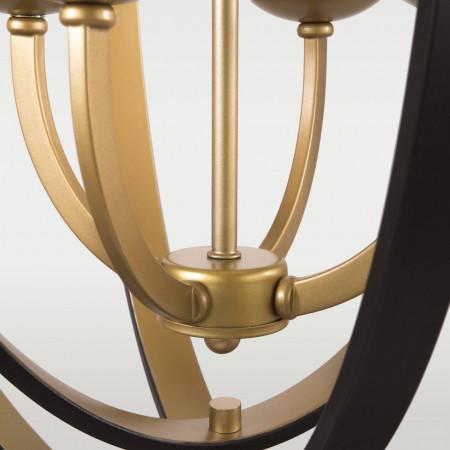 Lampa sufitowa wisząca DUBLIN brązowa złota XXL