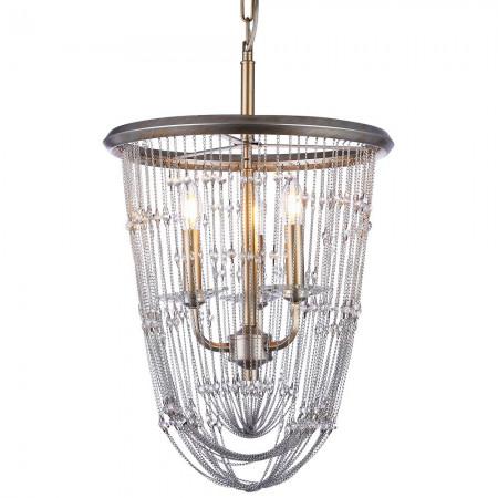 Lampa sufitowa wisząca MADRID II kolor szampański kryształ