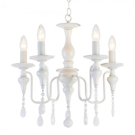Żyrandol lampa sufitowa wisząca MUSCAT biała kryształ