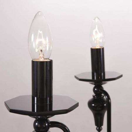 Żyrandol lampa sufitowa wisząca MUSCAT czarna kryształ