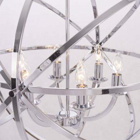 Lampa sufitowa wisząca ORLANDO I XXL metal szkło chrom