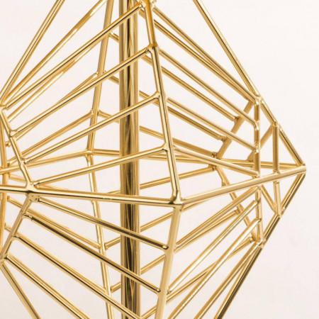 Lampka nocna stołowa XXL CARACAS złota lampa nowoczesna wys. 70 cm