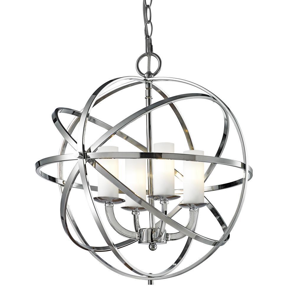 Lampa sufitowa wisząca ORLANDO II metal szkło chrom