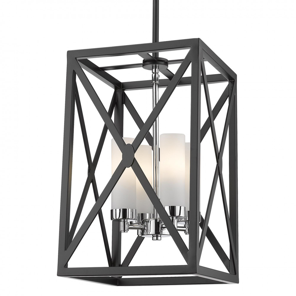 Lampa sufitowa wisząca DUBLIN I srebrna czarna