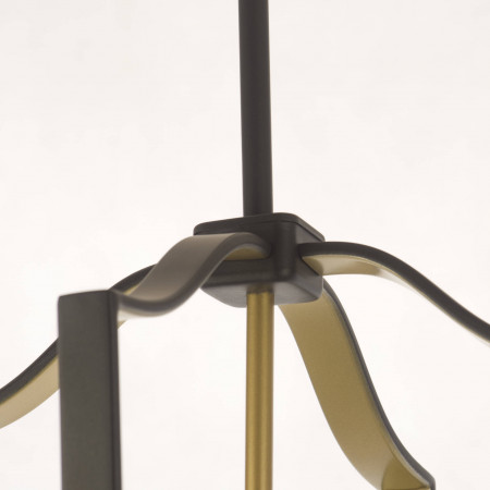 Lampa sufitowa wisząca DUBLIN II XXL brązowa złota marokańska koniczyna