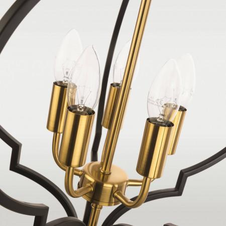 Żyrandol lampa sufitowa wisząca NASHVILLE czarna złota marokańska koniczyna XXL