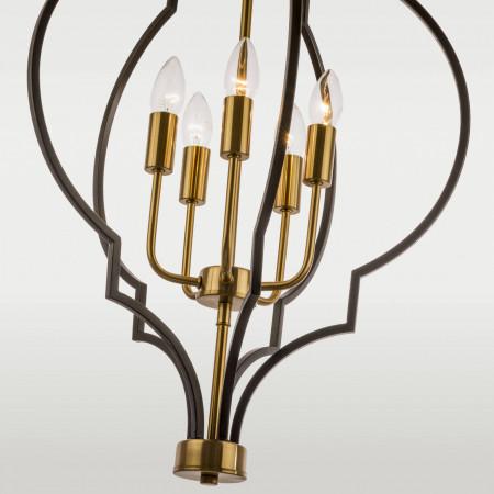 Żyrandol lampa sufitowa wisząca NASHVILLE XXL czarna złota marokańska koniczyna XXL