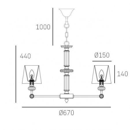Żyrandol lampa sufitowa wisząca DOHA kryształ nikiel
