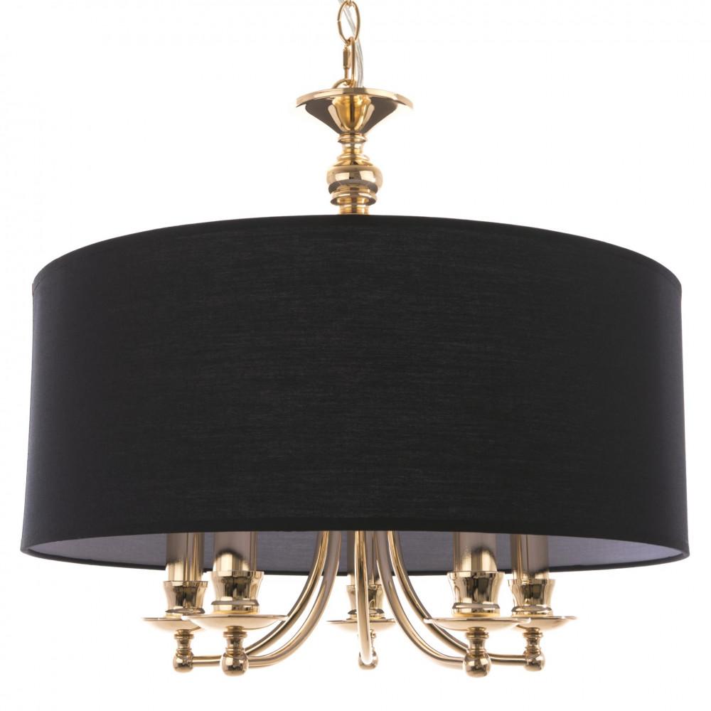 Żyrandol lampa sufitowa ABU DHABI złota klosz hampton śr. 50 cm wys. 135 cm regulowana