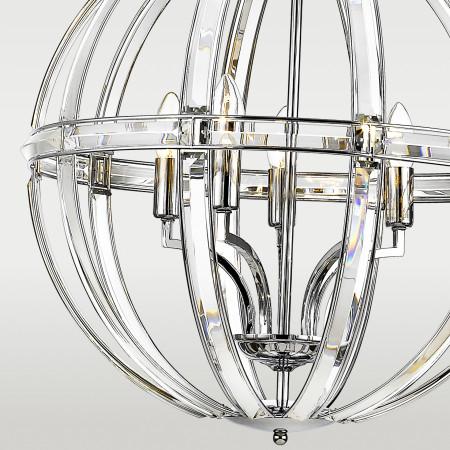 Lampa kryształowa sufitowa wisząca XXL ORLANDO 3D nowoczesna śr. 62 cm wys. 169 cm regulowana