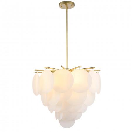 Lampa wisząca TROMSO P04094BR XXL 65 cm złoty mat płatki Złoto designerska forma