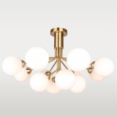 Lampa wisząca CAPE TOWN XXL P12049BR złota kule średnica 90 cm nowoczesna Art Deco do salonu