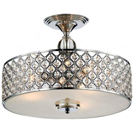 Plafon kryształowy PERSON 40 cm sufitowa lampa kryształy srebrny glamour