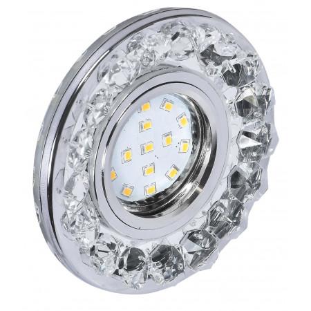 Oprawa Stropowa kryształowa okrągła srebrna 2273617 10 cm glamour