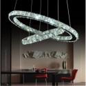 Lampa kryształowa mini RING do slonu sypialni chrom srebrna kryształ E27