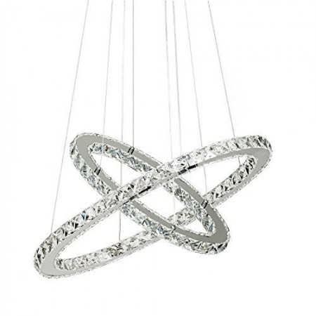 Żyrandol Kryształowy Pierścieniowy Ring 40cm Kejlor 2 Okręgi LED 36W neutral 4500K