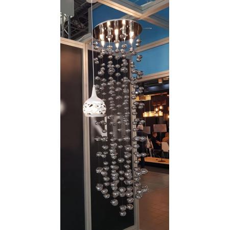Lampa Wiszaca 240cm Bubble nad Schody Hol Klatka Schodowa szkło