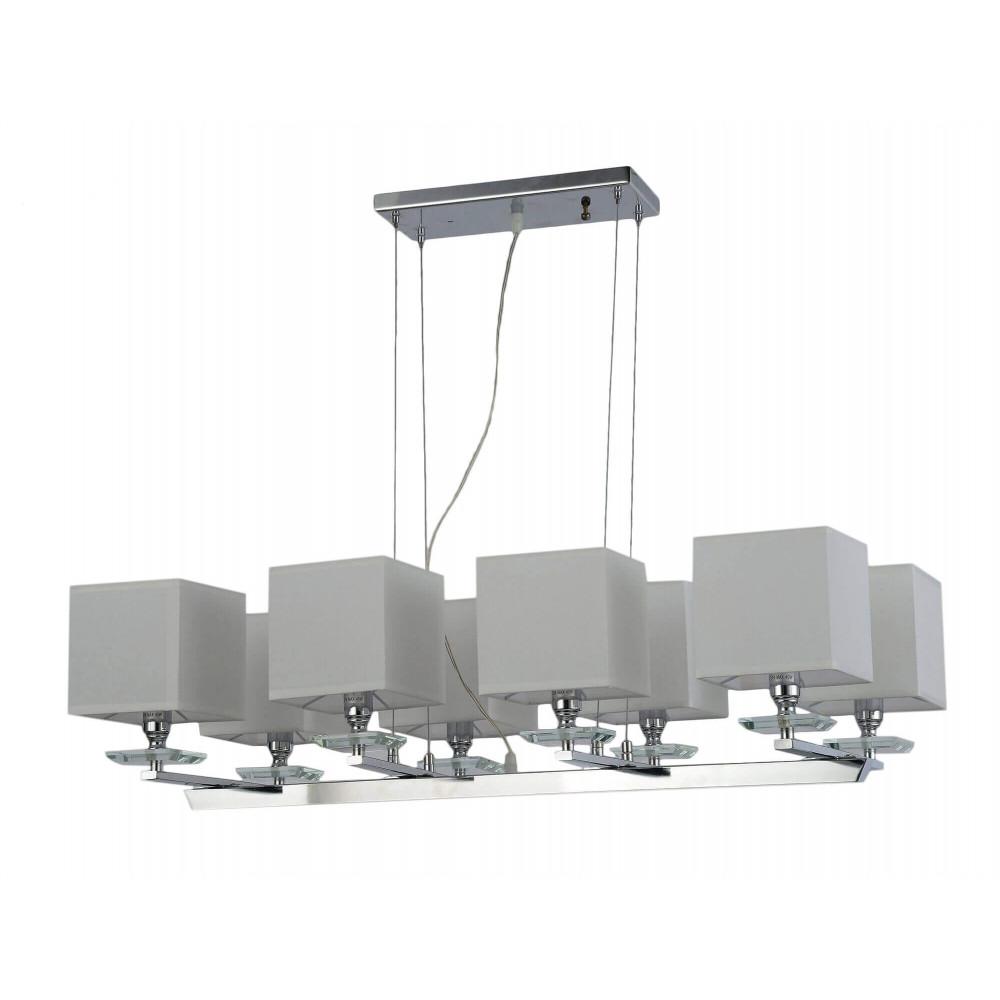 Lampa wisząca klosze Hampton ANELO 92 cm kwadratowe klosze ekskluzywna do salonu jadalni