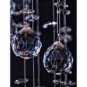 PROMOCJA!!! Lampa kryształowa ZOJA nad stół 100 cm metal kryształ lampa wisząca regulowana długość