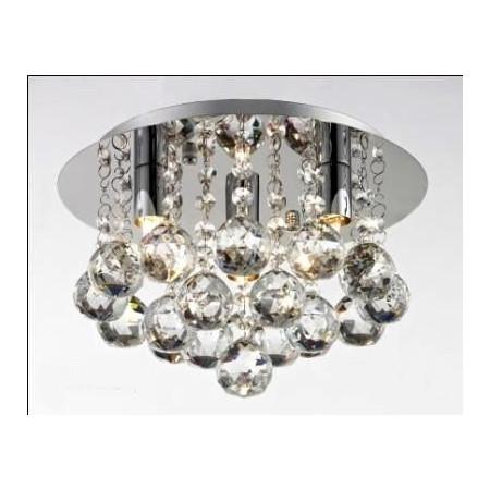 Lampa Kryształowa Mini Ron 25Cm Glamour Styl 3x G9