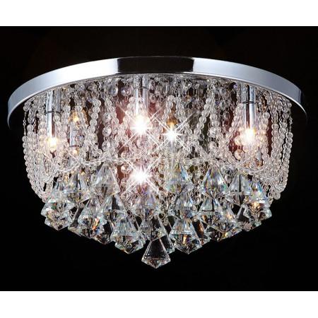 Żyrandol Kryształowy Wiszący Nodi 45cm LED Kryształy do Salonu 5x G9