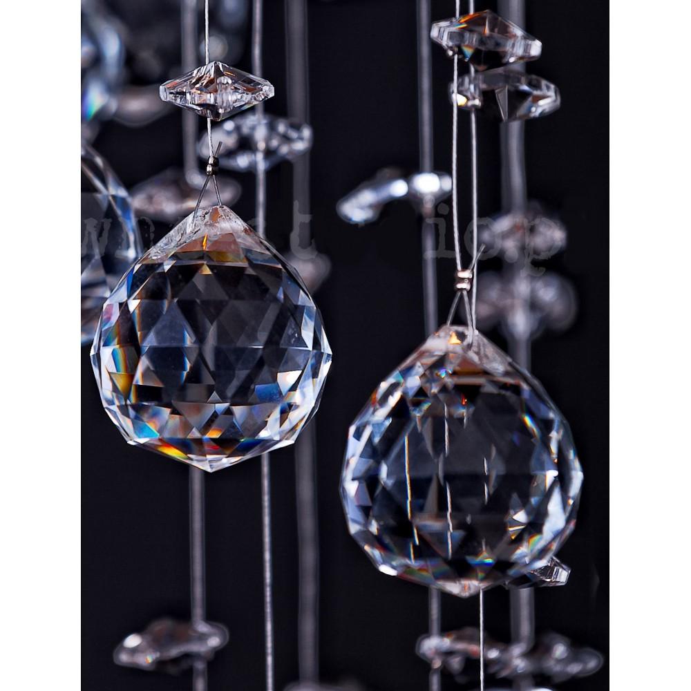 Lampa kryształowa RIWIA 70 CM 8 * G4 220 V pokój dzienny jadalnia