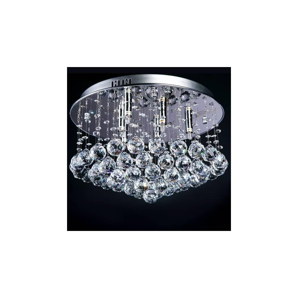 Lampa kryształowa wisząca żyrandol kryształowy długi Dekoratornia