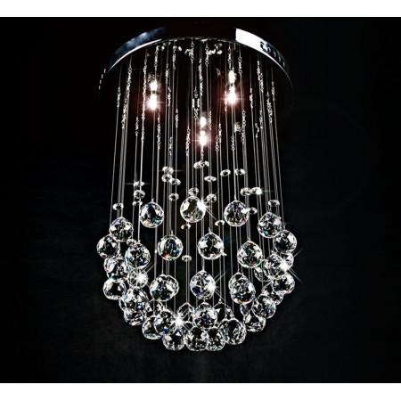 Żyrandol Kryształowy Pelle Okrągły Kula 30cm Plafon Kryształ 3x G9