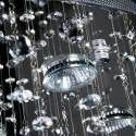 PROMOCJA Kinkiet kryształowy CRYSTAL chrom 2 żródła światła kryształy ścienny