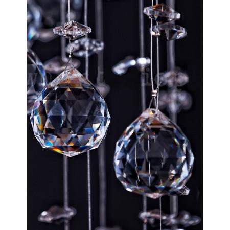 Lampa Kryształowa Wisząca Oroko 3D 100cm Crystal Home Oryginalny Kryształ