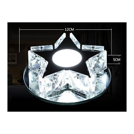Reflektor spot oprawa GWIAZDA LED 12 cm kryształ