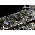 Żyrandol kryształowy WERSEN 200 cm długości wiszący 5XL CHROM LED 12 żarówek