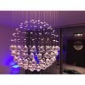Lampa ledowa 100 cm WENAR kryształowa wiszaca NOWOCZESNY DESIGN led