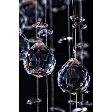 Lampa kryształowa kula XXL MOLER 45 80 cm ball chrom żyrandol okrągły kryształowy 6x GU10