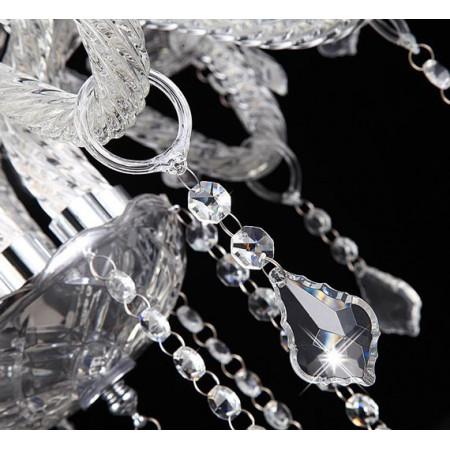 Kryształowy Żyrandol Tradis Szklane Ramional Kryształowe Sople 9 Ramienny Tradycyjny