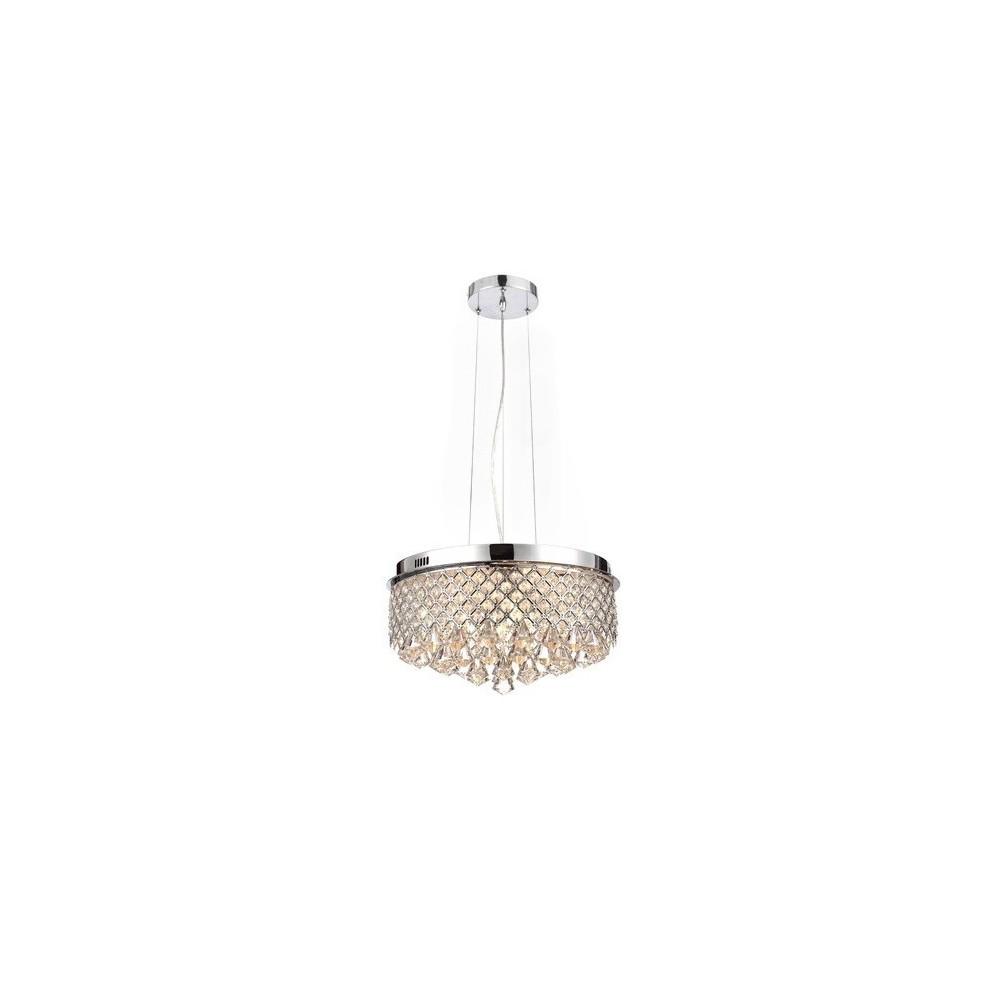 Lampa Kryształowa 45cm Tatiana nad Stół Wisząca Regulowana Kryształy