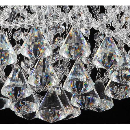 Żyrandol Kryształowy Kalo 35cm Lampa Kryształowa Sople