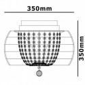 Żyrandol kryształowy PELLE okrągły KULA 30 cm plafon kryształ 3xG9