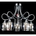 duży żyrandol kryształowy WETLAN 80 cm NAD STÓŁ regulowana wysokość LED ledowy