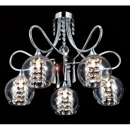 Polia Kryształowy Żyrandol Sufitowy LED 5-Ramienny 54cm 5x G9