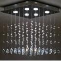 Lampa kryształowa 300 cm JOSEPHINE spirala kryształ 3 metry ledowa nad schody do holu żyrandol wiszący ogromny RATY