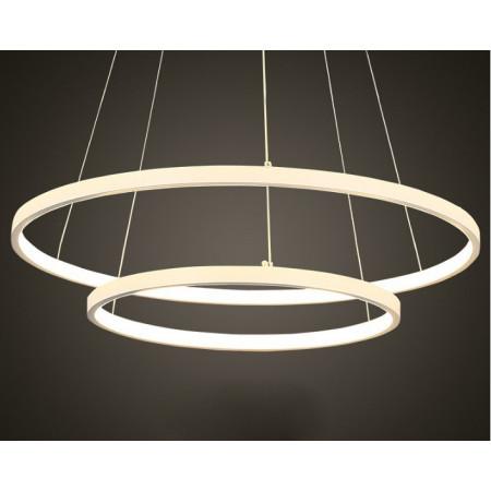 Żyrandol Ring LED 38 W Stamp Aluminium 2 Okręgi Black/White