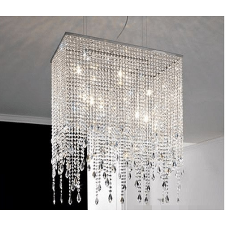 Lampa Kryształowa nad Stół RAIA 65cm Ogromna Piękna Kryształ